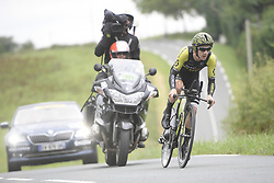 July 28, 2018 - Espelette, FRANCE - British Adam Yates of Mitchelton-Scott pictured in action during the 20th stage of the 105th edition of the Tour de France cycling race, a 31km individual time trial from Saint-Pee-sur-Nivelle to Espelette, France, Saturday 28 July 2018. This year's Tour de France takes place from July 7th to July 29th...BELGA PHOTO YORICK JANSENS (Credit Image: © Yorick Jansens/Belga via ZUMA Press)