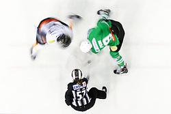 Faceoff with Nik Pem of Olimpija during ice hockey match between HDD Olimpija Ljubljana and Dornbirner EC in Erstebank league season 2016/17, on October 24, 2016 in Hala Tivoli, Ljubljana, Slovenia. Photo by Morgan Kristan / Sportida