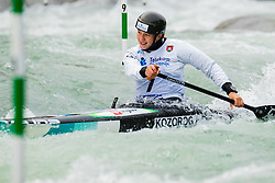 Alja KOZOROG (SLO) during Canoe Semi Finals at World Cup Tacen, 18 October 2020, Tacen, Ljubljana Slovenia. Photo by Grega Valancic / Sportida