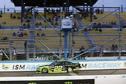 March 10, 2018 - Avondale, Arizona, United States of America - March 10, 2018 - Avondale, Arizona, USA: Brad Keselowski (22) wins the DC Solar 200 at ISM Raceway in Avondale, Arizona. (Credit Image: © Chris Owens Asp Inc/ASP via ZUMA Wire)