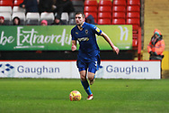 AFC Wimbledon defender Ben Purrington (3) dribbling during the EFL Sky Bet League 1 match between Charlton Athletic and AFC Wimbledon at The Valley, London, England on 15 December 2018.
