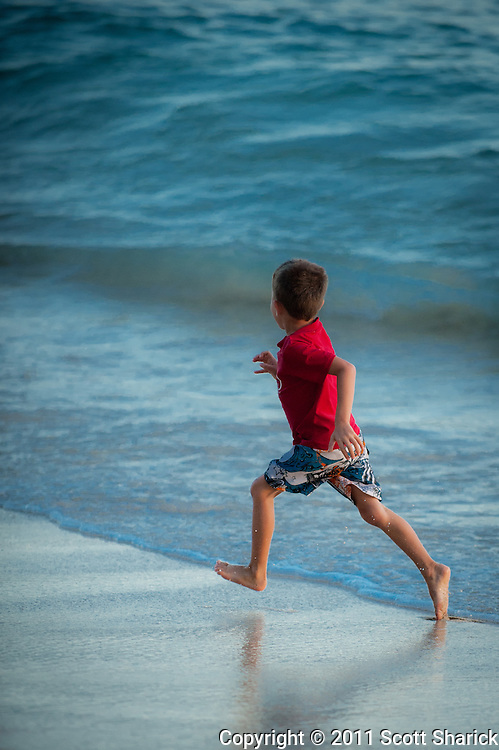 There is no way that wave was going to hit this little guy.