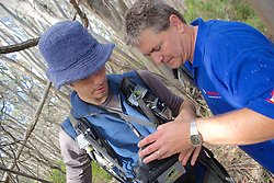 Sam & Kevin Checking Leadbeater's Possum Nest Box With Video Monitor