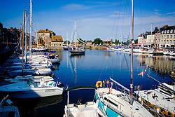 The harbour in Honfleur, France in Summer