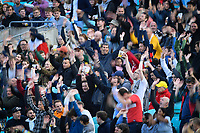 Cricket - 2021 - The Hundred - Men's Competitions - Oval Invincibles vs Trent Rockets - Kia Oval - Sunday 8th August 2021<br /> <br /> Mexican Wave breaks out as the fans wait for the next inspection.<br /> <br /> COLORSPORT/Ashley Western