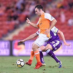 BRISBANE, AUSTRALIA - DECEMBER 21: Nick D'Agostino of the Roar in action during the Round 12 Hyundai A-League match between Brisbane Roar and Perth Glory on December 21, 2017 in Brisbane, Australia. (Photo by Patrick Kearney / Brisbane Roar FC)