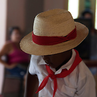 Central America, Cuba, Santa Clara. Young Cuban dancer.