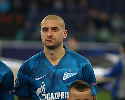 November 5, 2019, Saint-Petersburg, Russia: Russian Federation. Saint-Petersburg. Gazprom Arena. Football. UEFA Champions League. Group G. round 4. Football club Zenit - Football Club RB Leipzig. Player of Zenit football club Yaroslav Rakitsky (Credit Image: © Russian Look via ZUMA Wire)