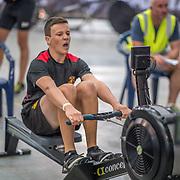 Jean-Paul Biladi MALE LIGHTWEIGHT U15 1K Race #11  11:45am<br /> <br /> <br /> <br /> www.rowingcelebration.com Competing on Concept 2 ergometers at the 2018 NZ Indoor Rowing Championships. Avanti Drome, Cambridge,  Saturday 24 November 2018 © Copyright photo Steve McArthur / @RowingCelebration