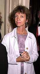 Leading social figure MISS SABRINA GUINNESS, at a party in London on 19th September 2000.OHC 4