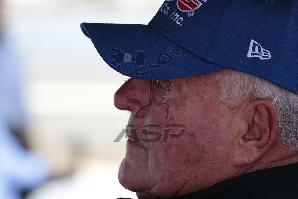 IndyCar Team Owner, AJ Foyt Jr watches as his teams prepare to qualify for the Indianapolis 500 at Indianapolis Motor Speedway in Indianapolis, Indiana.