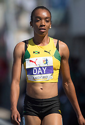 August 10, 2018 - Toronto, ON, U.S. - TORONTO, ON - AUGUST 10:  Christine Day (Jamaica) 400m semi-finals at the 2018 North America, Central America, and Caribbean Athletics Association (NACAC) Track and Field Championships on August 10, 2018 held at Varsity Stadium, Toronto, Canada. (Photo by Sean Burges / Icon Sportswire) (Credit Image: © Sean Burges/Icon SMI via ZUMA Press)
