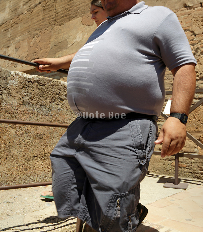 overweight male persons belly