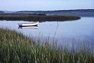 Westhampton Beach, Quogue, Dinghy, New York. Marsh, Long Island, South Fork