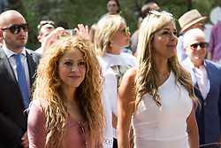 Colombian singer Shakira (left) visits the northern Lebanese mountain village of Tannourine, Lebanon on July 13, 2018. In this village where her paternal grandmother was born, Shakira plants a cedar and has a park named after her. Photo by Eric Dib-Balkis Press/ABACAPRESS.COM