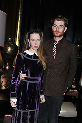 RODOLPHE & LADY FRANCES VON HOFMANNSTHAL at an evening of Cabaret by Nicky Haslam held in the Beaufort Bar, The Ritz, London on 11th December 2011.