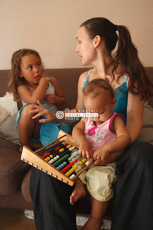 Social worker or mother with small children