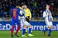 during the match of Copa del Rey between Real Sociedad and  Futbol Club Barcelona at Anoeta Stadium in San Sebastian, Spain. January 19th 2017. (ALTERPHOTOS/Rodrigo Jimenez)