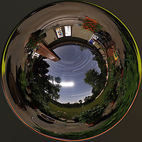Summertime Night Sky over New Jersey (360 Tunnel View). Composite of 360 images taken with a Ricoh Theta Z1 camera (ISO 400, dual 2.6 mm fisheye lens, f/3.5, 60 sec).