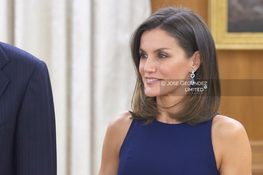 Queen Letizia of Spain host a Dinne with Xi Jinping, President of People's Republic of China and wife Peng Liyuan at Zarzuela Palace on November 27, 2018 in Madrid, Spain