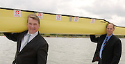 Caversham, Reading, Berks, ENGLAND, ..Official opening Redgrave Pinsent Rowing Lake and Sheriff Boathouse, By, Sirs' Matt Pinsent [left] and Steven Redgrave, 29.04.2006 © Peter Spurrier / Intersport images...'New 13 millon pounds British International Rowing Trianing facility at Caversham Lake' .
