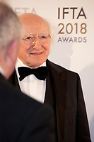 The President of Ireland, Michael D. Higgins at the IFTA Film & Drama Awards (The Irish Film & Television Academy) at the Mansion House in Dublin, Ireland, Thursday 15th February 2018. Photographer: Doreen Kennedy