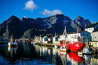 Fishing village,  Henningsvaer, Lofoten Islands, Norway