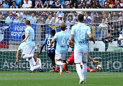 May 6, 2018 - Rome, Italy - Musa Barrow scores the goal of 0-1 at Olimpico Stadium in Rome, Italy on May 6, 2018. (Credit Image: © Matteo Ciambelli/NurPhoto via ZUMA Press)