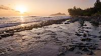 Mahe, Seychellys Coastline at Sunrise