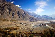 Village at foot of Karokoram Mountains, Skardu Valley, North Pakistan