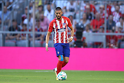 August 1, 2017 - Munich, Germany - Yannick Ferreira Carrasco of Atletico de Madrid during the first Audi Cup football match between Atletico Madrid and SSC Napoli in the stadium in Munich, southern Germany, on August 1, 2017. (Credit Image: © Matteo Ciambelli/NurPhoto via ZUMA Press)