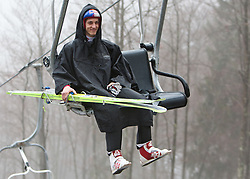 17.03.2011, Planica, Kranjska Gora, SLO, FIS World Cup Finale, Ski Nordisch, Skiflug, im Bild Gregor Schlierenzauer (AUT, #63) // Gregor Schlierenzauer (AUT) during a training session of the Ski Jumping World Cup finals in Planica, Slovenia, 17/3/2011. EXPA Pictures © 2011, PhotoCredit: EXPA/ J. Groder