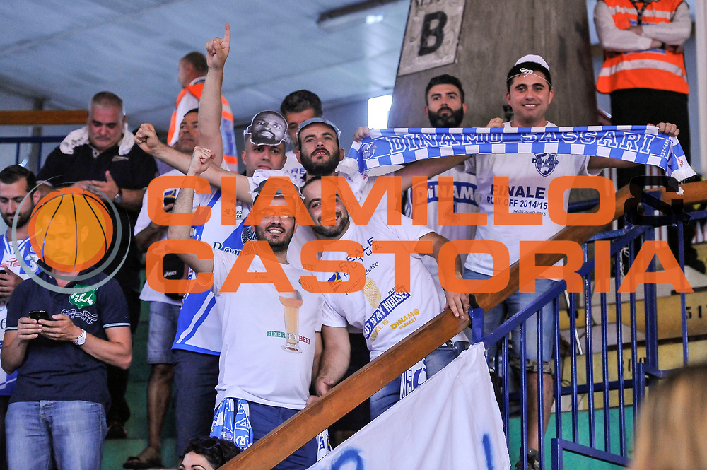 DESCRIZIONE : Campionato 2014/15 Serie A Beko Grissin Bon Reggio Emilia - Dinamo Banco di Sardegna Sassari Finale Playoff Gara7 Scudetto<br /> GIOCATORE : Commando Ultra' Dinamo<br /> CATEGORIA : Ultras Tifosi Spettatori Pubblico<br /> SQUADRA : Dinamo Banco di Sardegna Sassari<br /> EVENTO : LegaBasket Serie A Beko 2014/2015<br /> GARA : Grissin Bon Reggio Emilia - Dinamo Banco di Sardegna Sassari Finale Playoff Gara7 Scudetto<br /> DATA : 26/06/2015<br /> SPORT : Pallacanestro <br /> AUTORE : Agenzia Ciamillo-Castoria/L.Canu