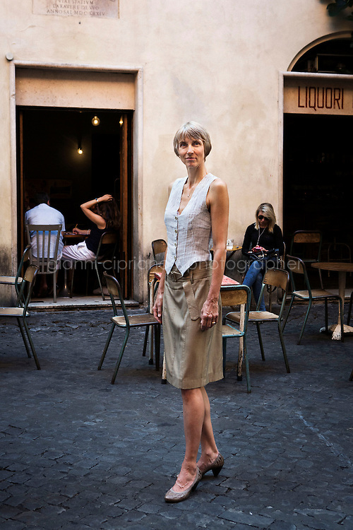 ROME, ITALY - 27 August 2013: Stern photo editor Luisa Brandl poses for a portrait in Rome, Italy, on August 27th 2013.