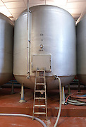 insulated steel tanks bodegas frutos villar , cigales spain castile and leon