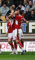 Photo: Steve Bond/Sportsbeat Images.<br /> Wolverhampton Wanderers v Bristol City. Coca Cola Championship. 03/11/2007. Liam Fontaine celebrates