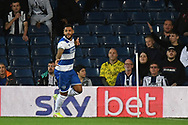 GOAL QPR forward (on loan from Watford) Andre Gray (19) scores a goal and celebrates 0-1 during the EFL Sky Bet Championship match between West Bromwich Albion and Queens Park Rangers at The Hawthorns, West Bromwich, England on 24 September 2021.