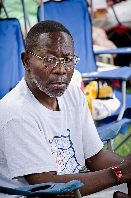 Bluesman, Georgie Bonds, was taking in the good stuff at the Riverfront Blues Festival in Wilmington, DE.