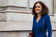 Theresa  Villiers, Secretary of State for Environment, Food and Rural Affairs leaving the Cabinet Office in London, United Kingdom on 10th September 2019.