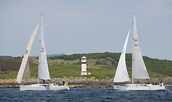 Sailing - SCOTLAND  - 27th May 2018<br /> <br /> 3rd days racing the Scottish Series 2018, organised by the  Clyde Cruising Club, with racing on Loch Fyne from 25th-28th May 2018<br /> <br /> GIRL8407, Encore, Dermot Cronin, Malahide Yacht Club, Beneteau First 40.7<br /> GBR5515C, Synergie, Chris Morrison, CCC, Dufour 40<br /> <br /> Credit : Marc Turner<br /> <br /> Event is supported by Helly Hansen, Luddon, Silvers Marine, Tunnocks, Hempel and Argyll & Bute Council along with Bowmore, The Botanist and The Botanist