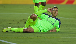 SANTA CLARA, USA - Saturday, July 30, 2016: Liverpool's Roberto Firmino celebrates scoring the second goal against AC Milan during the International Champions Cup 2016 game on day ten of the club's USA Pre-season Tour at the Levi's Stadium. (Pic by David Rawcliffe/Propaganda)