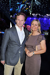 CHRISTIAN HORNER team manager of the Red Bull Racing Formula One team and BEVERLEY ALLEN at the F1 Party in aid of Great Ormond Street Hospital Children's Charity held at Battersea Evolution, Battersea Park, London on 4th July 2012.