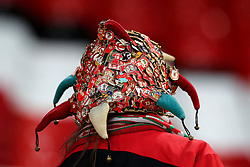 A Liverpool fan in the stands during the Premier League match at Anfield, Liverpool.