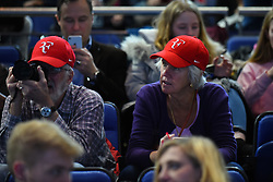 November 12, 2017 - London, United Kingdom - Fans attending Roger Federer of Switzerland and Jack Sock of the USA play the opening singles round robin match against Jack Sock of the United States during the Nitto ATP World Tour Finals at O2 Arena, London on November 12, 2017. (Credit Image: © Alberto Pezzali/NurPhoto via ZUMA Press)