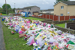 Floral Tribute to the two WPC's, PC Fiona Bone and PC Nicola Hughes, murdered in Mottram, Manchester 2012