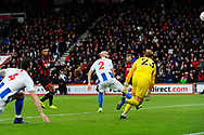 Lys Mousset (9) of AFC Bournemouth shoots over the goal during the The FA Cup 3rd round match between Bournemouth and Brighton and Hove Albion at the Vitality Stadium, Bournemouth, England on 5 January 2019.