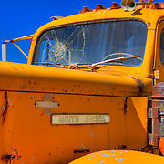White Diesel Cab Cracked Windshield - Motor Transport Museum - Campo, CA