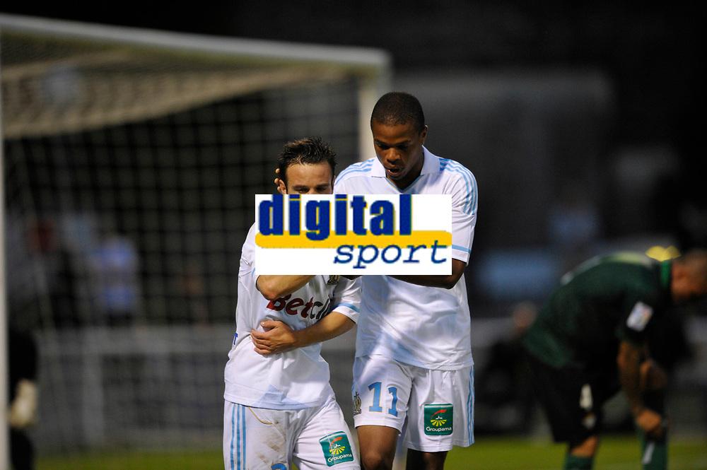 FOOTBALL - FRIENDLY GAMES 2011/2012 - OM v REAL BETIS SEVILLA - 20/07/2011 - PHOTO GUY JEFFROY / DPPI - JOY MATHIEU VALBUENA / LOIC REMY (OM)