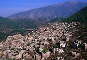 Deserted formerly Greek village of Kayakoyu, near Fethiye, Turkey