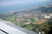 Holland coast seen from the air, A44 Den Haag to A'dam at Oegstgeest